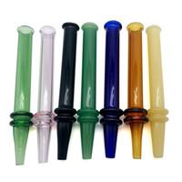 dab kalem camı toptan satış-Yeni Taşınabilir Cam Dab Saman Ile Kalem Stil Isı Hızlı Mini Nektar Toplayıcı Renkli Hızlı Saman Dab Için Dab Tüp Cam Bal İpucu