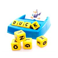 letra del alfabeto al por mayor-Baby Matching Letter Toy English Spelling Alphabet Letter Word Spelling Game Spell Words Juego de mesa para niños Juguetes educativos de aprendizaje