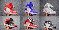 ingrosso bambini retros-Kids 1 Scarpe da basket Sneakers da bambino Top 3 Nero Bianco Rosso Stivali di alta qualità Ragazzi Ragazze Retros 1s Scarpe sportive Eur 28-35