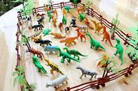 caja de dinero mágica al por mayor-Venta al por mayor 68 PCS 40 emulación de animales de juguete Juguetes de animales de bosque SIDA para niños Muebles para el hogar juguetes de animales salvajes