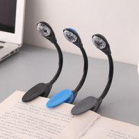 feine lampen großhandel-New Fine Bequem Tragbare Reise Buch Leselampe Lampe Mini LED Clip Booklight (keine batterie)
