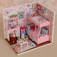 Wholesale Love Dolls For Sale - Hot Sale Cuteroom DIY Handcraft Wooden Dollhouse Mood of Love Handmade Decorations Model with Doll Decoration Gift For Girls
