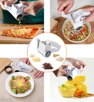 Wholesale multi slicer grater for sale - Group buy Hand Held Rotary Grater Multi function Cheese Ginger Slicer Grind Vegetables Tool Plastic Kitchen Gadget Box Packing