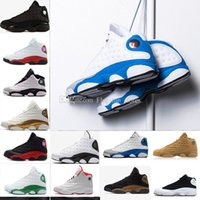 Wholesale america mid - Italy Blue 13 XIII Mens Basketball Shoes Grey Hyper Royal GS Love Respect Captain America DMP 13s Women Sneakers Drop Shipping US5.5-13