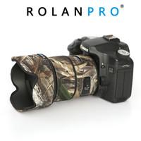 ingrosso lente d'arte-ROLANPRO Copriobiettivo Camouflage Rain Cover per Siama 50mm F1.4 DG ART Lens Manicotto protettivo Guns Protection Case Clothing DSLR