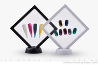 Wholesale manicure display stand online - White Black Nail Tips Display Stand Holder Acrylic With PET Membrane Nails Deigns Showing Board Manicure Tools For DIY
