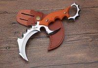 düz bıçak taktik toptan satış-Yeni varış karambit Deformity mantis pençeleri taktik düz pençe bıçak avcılık kamp survival bıçaklar Noel hediyesi 1 adet freeshipping