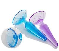 ingrosso gelatina giocattolo anale-Plug anale di gelatina di cristallo, plug anale in silicone per principianti, giocattoli del sesso anale per uomini e donne, prodotti adulti del sesso