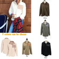 Wholesale womens sweaters jackets resale online - 7 Colors Sherpa Pullover Women Berber Fleece Hoodie Sweater Jacket Winter Warm Outwear Womens Oversize Soft Sweatshirts MMA612