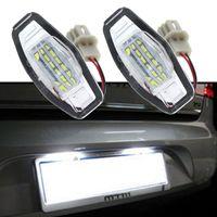 ingrosso piastre di acura-2 pz Bianco 18SMD LED Numero Targa Lampadina Per Honda Civic EM2 / ES7 Città Legenda Accord Acura TL TSX MDX 12V
