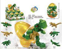 montage montieren großhandel-Kleine Partikel Montage Bausteine Spielzeug große goldene Eier installiert Dinosaurier Vögel Gebäudetechnik Feuer Serie 6 kombiniert 1 yizhi