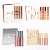 Wholesale Nude Lipgloss - Kylie Jenner Lip Kit Lipgloss Set KOKO Kollection Send me more nude Set Love In the KOKO The kollaboration Holiday Matte lipstick Lip Gloss