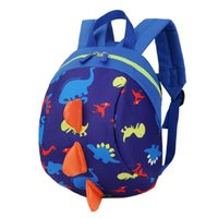 sac à dos enfant mignon achat en gros de-2017 Nouveau sac à dos anti-enfants perdu Cute Cartoon dinosaure Animal Prin Enfants Sacs à dos pour garçons Girl Kindergaden School Backpacks