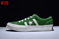 Wholesale Ivory Bars - 2017 AAA Quality Conve CONS One Star All Jack Star Green Suede Shoes Star STAR&BARS J SUEDE Sneaker Trainers Canvas shoes With box