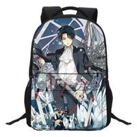 attaque titan anime sac achat en gros de-VEEVANV Anime Girls School Backpacks Adolescents Mode Femmes Ordinateur Portable Sacs À Bandoulière Attaque Sur Titan Motif Garçons Bookbags