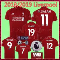 Wholesale football gerrard - 2018 M.SALAH FIRMINO MANE LIverPooLING home away Soccer Jerseys 18 19 COUTINHO HENDERSON STURRIDGE GERRARD liverpooling football shirt