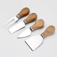 Wholesale metal cheese knife set resale online - Pizza Knife Fork Set Home Kitchen Baking Tool Stainless Steel Cheese Knifes Hot Sale yy C RKK