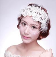 Wholesale korean style wedding gowns - Bride handmade lace fringes head ornaments, Korean style tassels, wedding headwear, wedding dress gowns