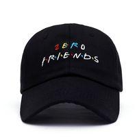 bonés de beisebol raros venda por atacado-Europa e américa marca zero amigos chapéu trending raro boné de beisebol hip hop pai chapéu homens e mulheres