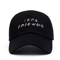 gorras de américa al por mayor-Europa y América Marca cero Amigos Sombrero Tendencia Raras Gorra de béisbol Hip Hop Papá Sombrero Hombres y mujeres