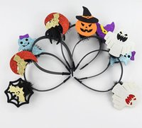 Wholesale Gathers Dress - Halloween decoration party atmosphere dress headband masquerade men and women gather headband 2018 new hot headband