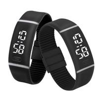 silicona electrónica relojes deportivos al por mayor-Splendid Luxury Electronic Watch Watches Mens Womens Silicone LED Watch Fecha Deportes pulsera digital muñeca