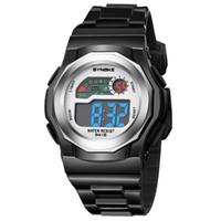 светодиодные часы подарочной коробке оптовых-Fashion Student LED Digital Watches Multifunction 30m Waterproof Sport Watch Automatic Date Wrist Watch And Gift Box Relojes