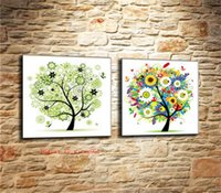 ingrosso moderne stagioni d'arte-Four Seasons Trees-1, Canvas Canvas Home Decor HD Stampato Arte moderna su tela (senza cornice / con cornice)