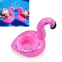 pool schwimmt dekoration großhandel-Pool Float Fun Flamingo Aufblasbares Poolspielzeug und Getränkehalter Ideal für Poolpartys