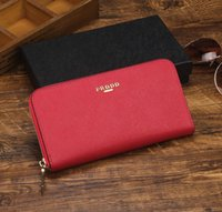 Wholesale italy brand bag - Top Quality Italy Milano style famous brand Designer women lady fashion saffiano genuine cow leather Luxury clutch bag purse wallets