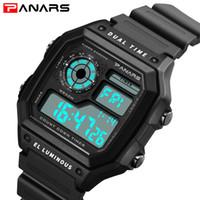 5b734ab7684e PANARS Marca Hot Square Men Watch Moda LED Relojes Digitales Impermeable  Choque Fecha Alarma Chrono Relojes Mens Relojes de Pulsera