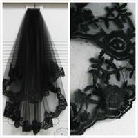 20e276ee5c novias de velo negro al por mayor-Elegante al por mayor nuevo estilo 2 t