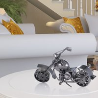 Wholesale motorcycle gift metal - Tooarts Iron Art Motorcycle Home Decoration Handicraft Metal Sculpture Modern Sculpture Crafts Artwork Gift