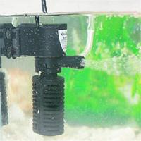 mini bombas de pescado al por mayor-Multifunción 3 en 1 Filtro de Acuario 3W 5W Mini Bomba Sumergible Interna Filtros de Tanque de Peces de Acuario Purificador de Agua Enchufe de EE. UU.
