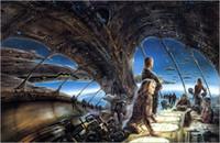 tela de pintura a óleo espacial venda por atacado-Luis Royo Arte Da Fantasia O ônibus espacial, Pintura A Óleo Impressão de Alta Qualidade Giclee na Lona Modern Home Art Decor 3886