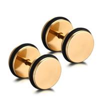 brincos de contas cheias de ouro venda por atacado-Grânulos de cristal para fazer jóias 18K Brincos de ouro enchidos para jogar ES-089