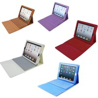 Wholesale Wholesale Folding Tote Bags - Bluetooth Wireless Keyboard leather case for Ipad air mini 2 retina Stand Holder Protector Protective Lined With Keyboard PCC060