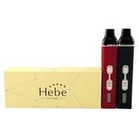 Wholesale Electronic Cigarettes Lcd - Hebe Titan 2 titan 1 Starter Kits 2200mah herbal Vaporizer ecig with LCD Display changeable Tempreture Electronic cigarette vape pen