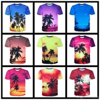 Wholesale Hawaii Long - 2017 New Fashion Mens Summer Brand-Clothing T-shirt Men Hawaii Style 3D Print Beach T shirt Men Slim Fit Beachwear Clothes