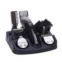 кусачки для волос для тела оптовых-новые CHJPRO 7 в 1 сменная головка электрический машинка для стрижки волос человек холить комплект тела волос триммер бритва нос борода триммер