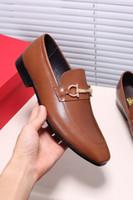 Wholesale Oxford Platform Heels - Fashion Designer Brand Dress Shoes Platform Oxfords Men's Custom Handmade Slip On Genuine Leather Business Shoes Size 38-44