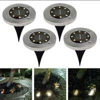leichte haus solarlampen großhandel-8 LED Solar Power Buried Licht unter Boden Lampe Outdoor Pfad Weg Garten Haus Dekoration OOA4250