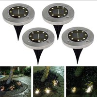 ingrosso casa di illuminazione solare-8 LED Solar Power Sepolto Luce Under Ground Lamp Outdoor Path Way Garden House Decoration OOA4250