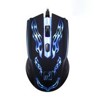 levou jogo óptico jogo mouse venda por atacado-Boa Venda 1200 DPI 4D LED Optical Game Mouse Gaming Com Fio Rato Para PC Portátil De Agosto de 19