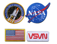 Wholesale USA NASA patch Embroidery Space Agency Armband combination suit Tactical morale Armband Sew or Iron on Patches