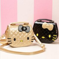 Wholesale Cheap Leather Crossbody Bags - cheap price hot sale women 2018 bags SUPER CUTE hello kitty bags women girls children mini shoulder handbags crossbody bags