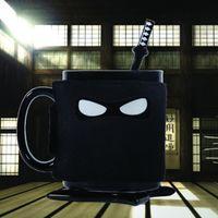 coaster da caneca de café venda por atacado-Ninja Caneca De Cerâmica Copo Xícara De Café Quente Com Colher Coaster Mats Ninja Máscara Leite Copo Beber Chá Kitchen Bar Ferramentas XMAs Halloween HH7-1327