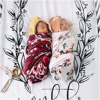 Wholesale babies bedding sheets - INS Baby Two pieces bed set pillow case bed sheet photography background props baby photo fabric backdrops infant blanket flower print BHB39