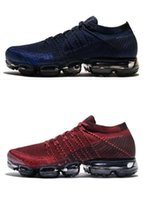 Wholesale full leather shoes for men - 2018 New VaporMax Men Running Shoes For Men Sneakers Knitting Fashion outdoor trainers Athletic Sport Shoe Full palm air cushion size5