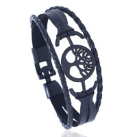 Wholesale bracelets made china resale online - Made In China Fashion Lover Bracelet In Black and Brown Color Romantic Leather Bracelet Jewelry